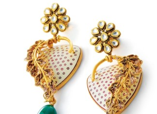 Kundan work earrings