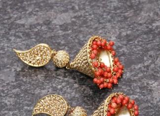 Pearl Coral Jhumka buy online