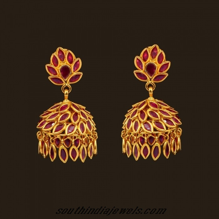 ruby-jhumka-earrings