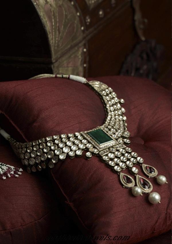 Tanishq uncut polki diamond necklace