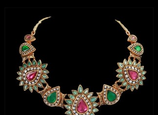 designer bridal polki necklace