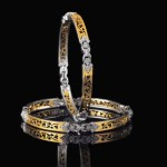 Diamond bangle promotional picture from Manubhai Jewellers