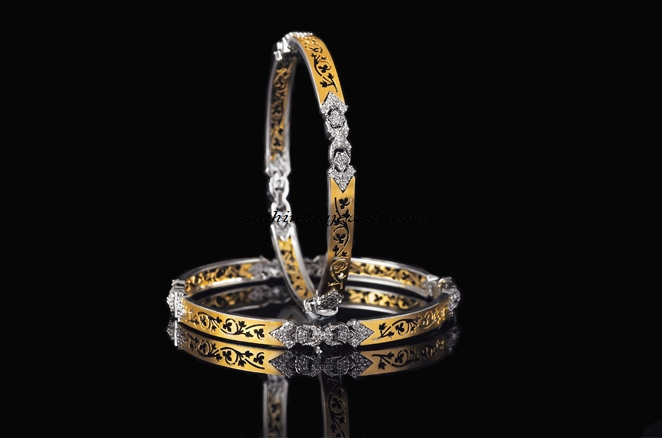Diamond bangles from Manubhai Jewellers