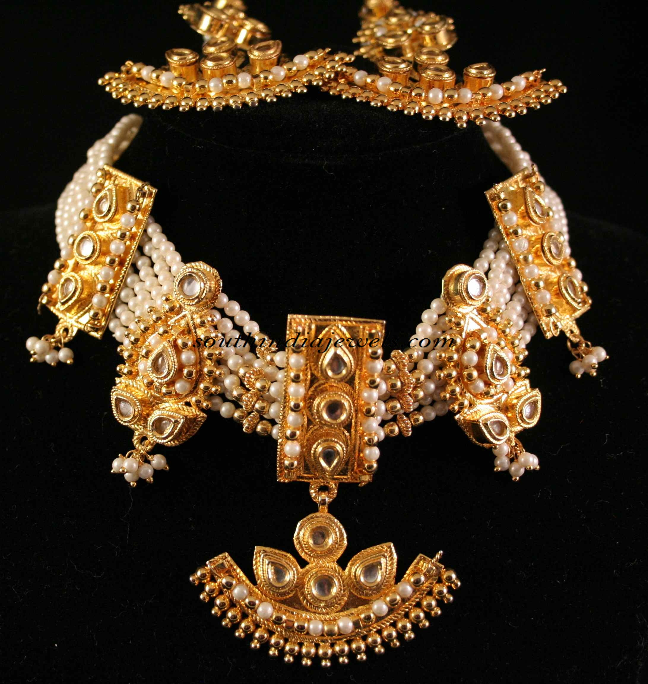 kundan fashion jewelry necklace set south india jewels