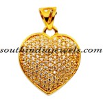 22K Gold heart Pendant with price