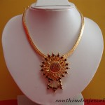 Traditional gold jewelry necklace