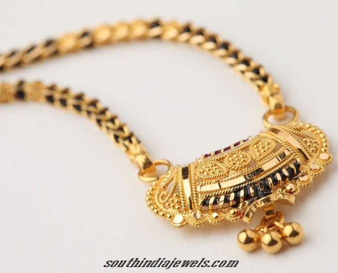 Gold Mangalsutra Design South India Jewels
