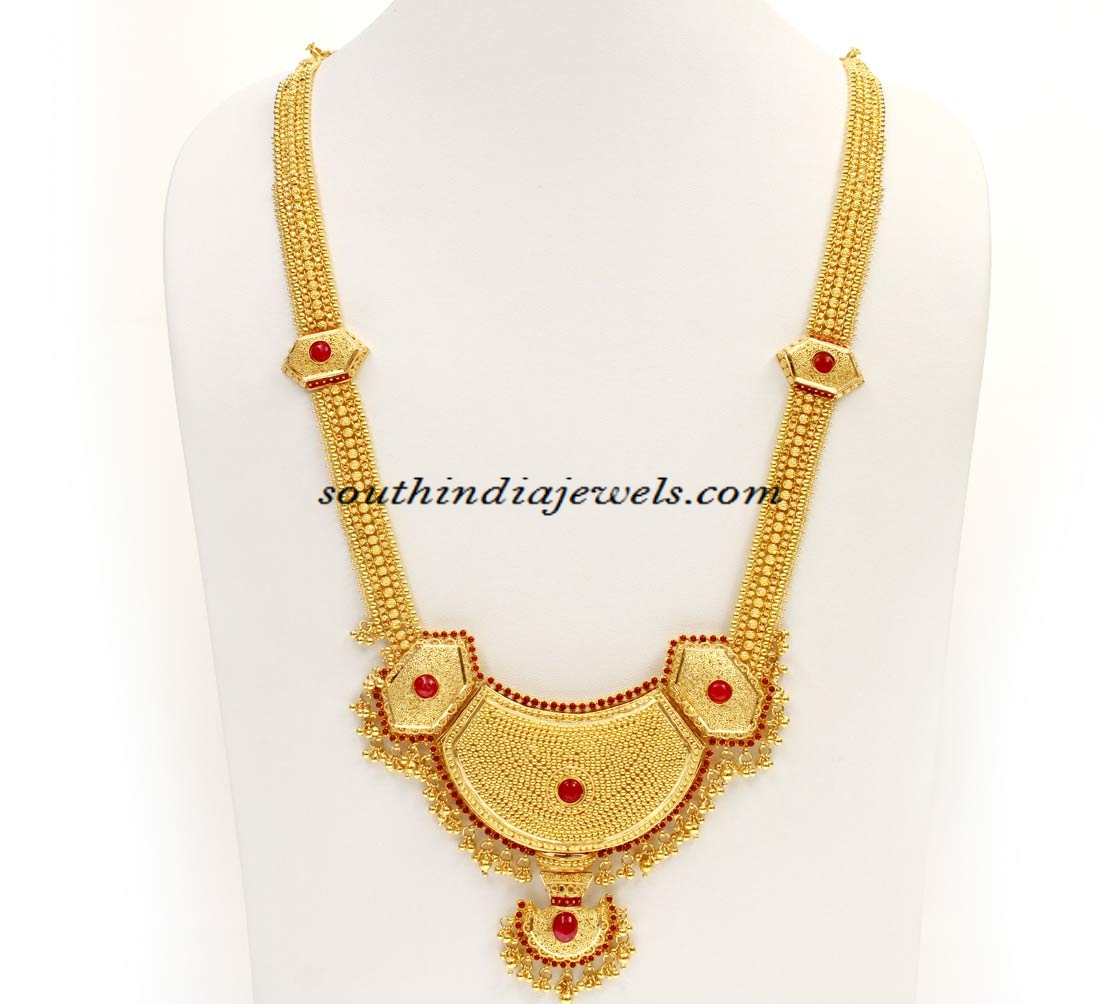 Kerala Jewellers Gold Haram design with price ~ South India Jewels