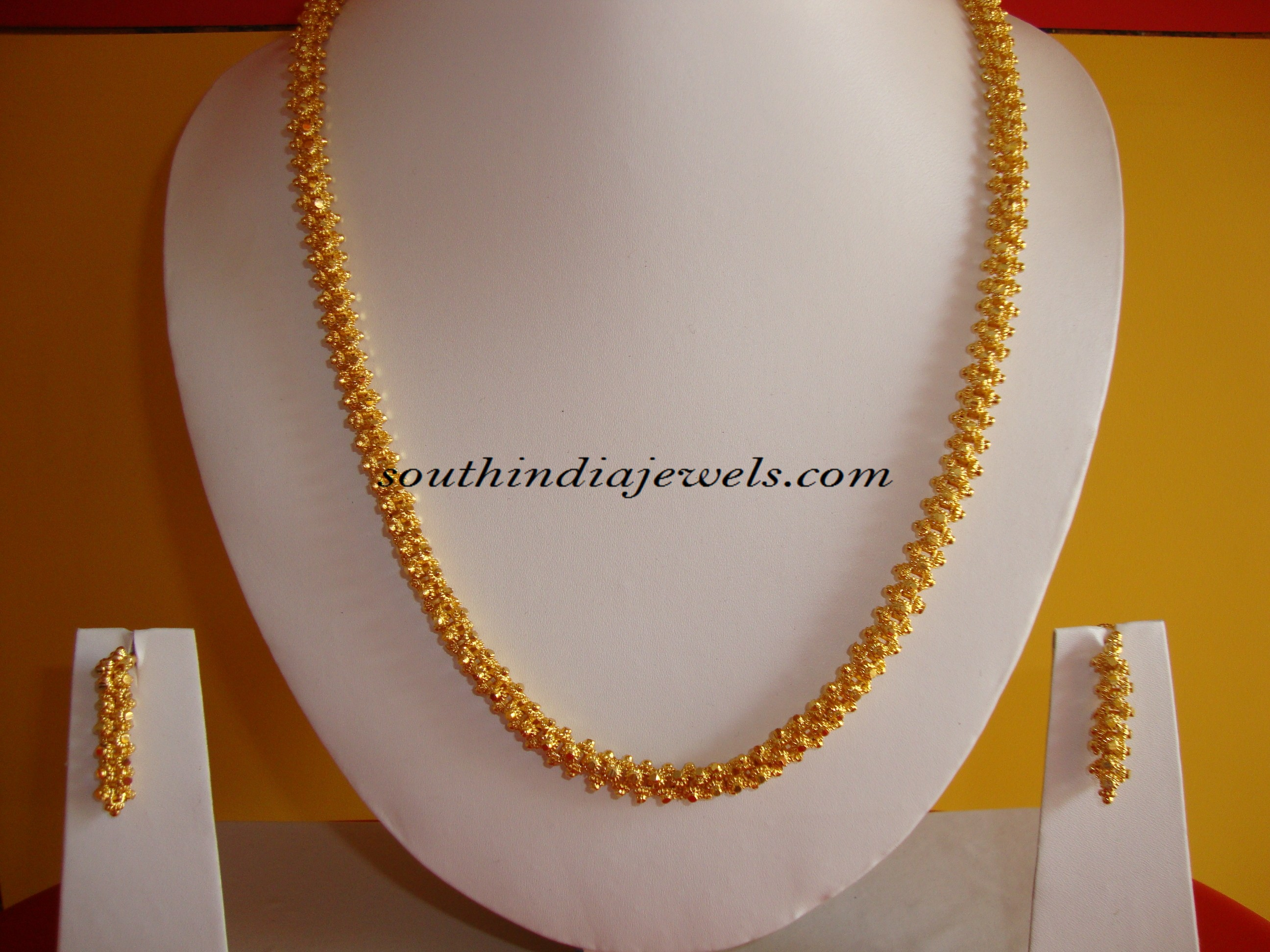 One gram gold jewelry chain design ~ South India Jewels
