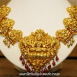Gold temple Necklace set