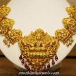 Gold temple Necklace set