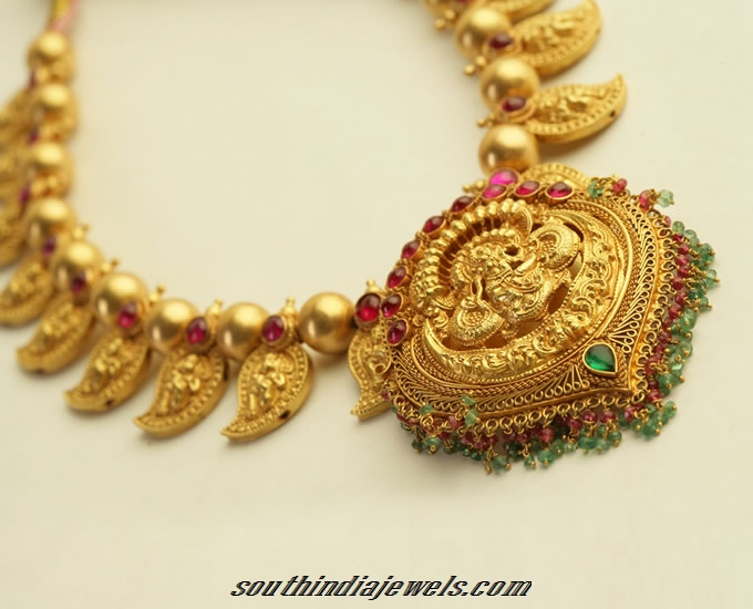 necklace jewels model south traditional gold india