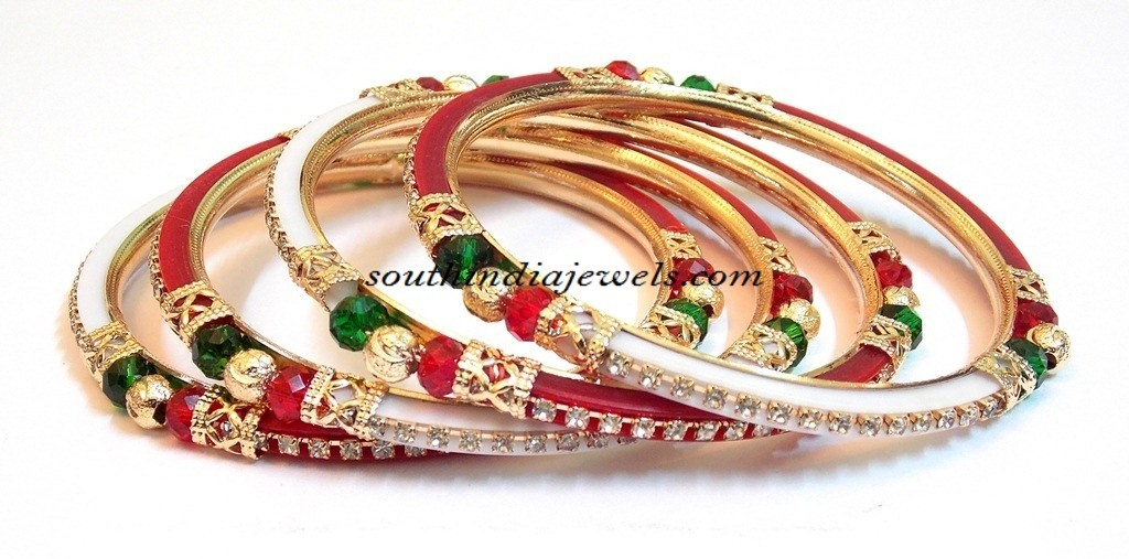 Two Color Zircon stud bangles