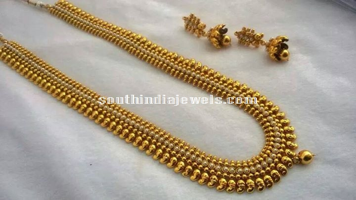 1 Gram Gold Jewellery Long Haram set