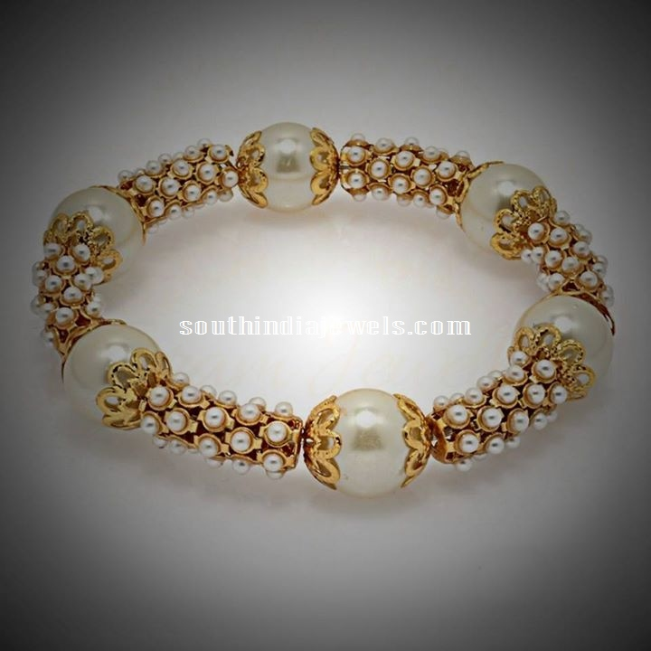 1 gram gold pearl kada bangle