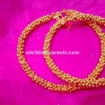 22K Gold balls clustered Anklet