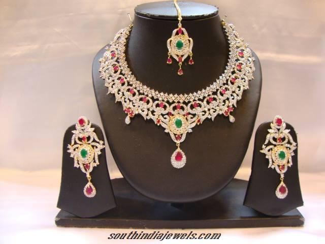 American Diamond Jewellery Set