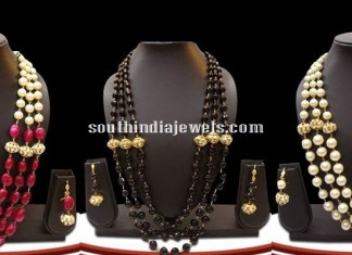 Beaded Kundan imitation necklace sets