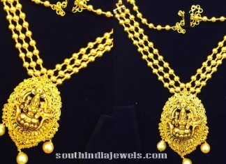 Gold-multilayer-chain-with-lakshmi-pendant-50gms