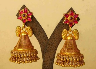 gold antique jhumka latest design