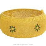 Gold Kerala Style Bangle with Enamel Work