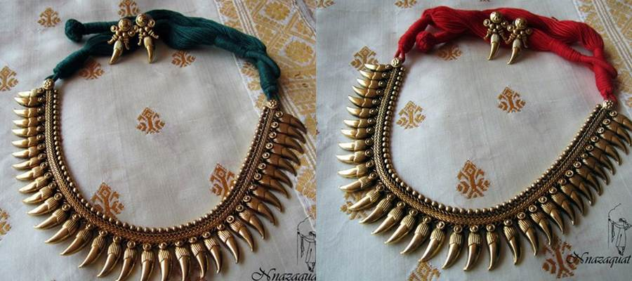 Hand Crafted antique tribal necklace set
