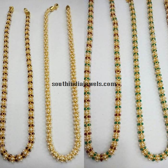 Imitation Pearl Chains Collections