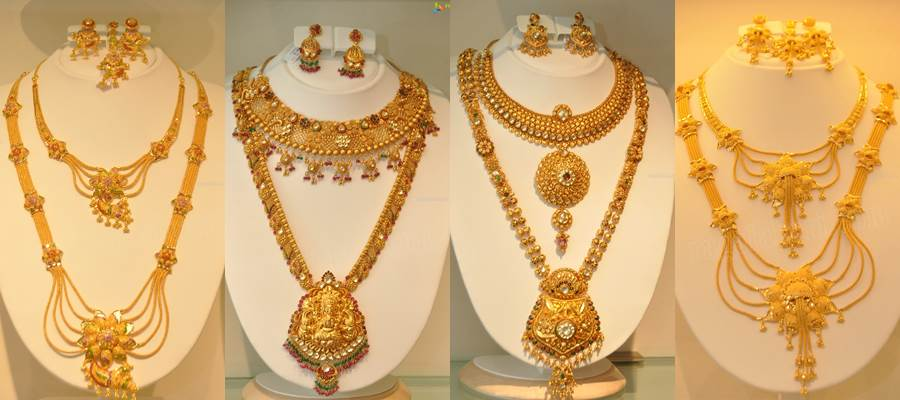 Kazana Jewellery latest long haram designs