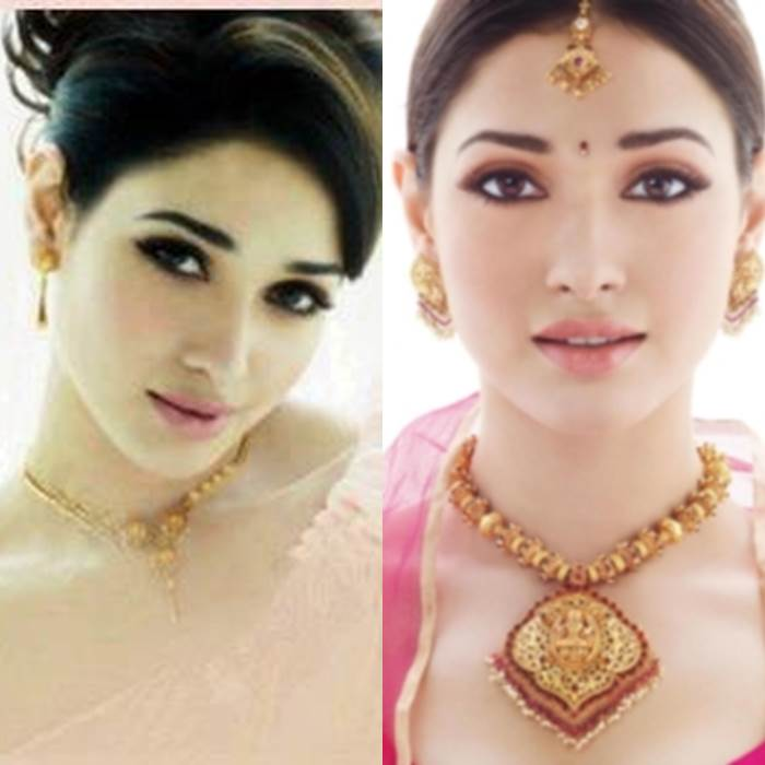 Tamanna wearing Kazana Jewellery diamond and antique collections