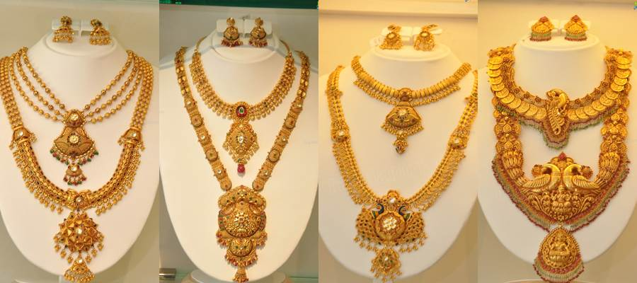 gold wedding necklace set images
