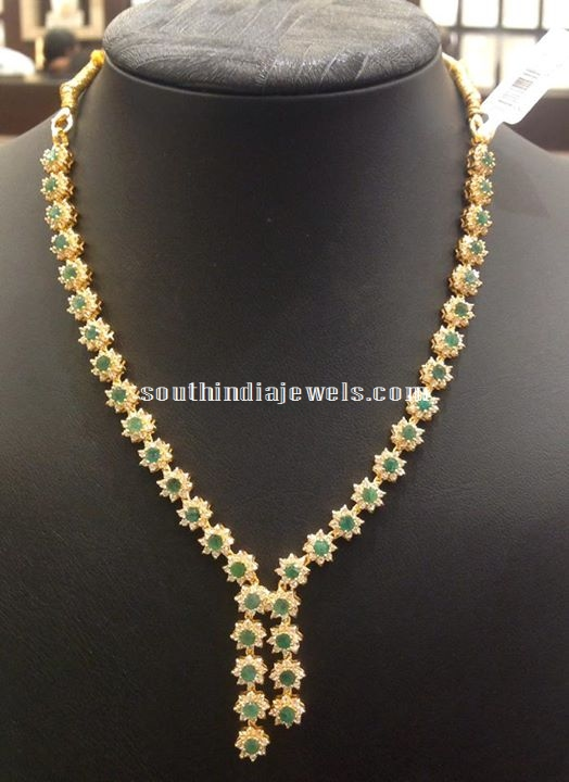 Latest Cz Stone Necklace Designs South India Jewels