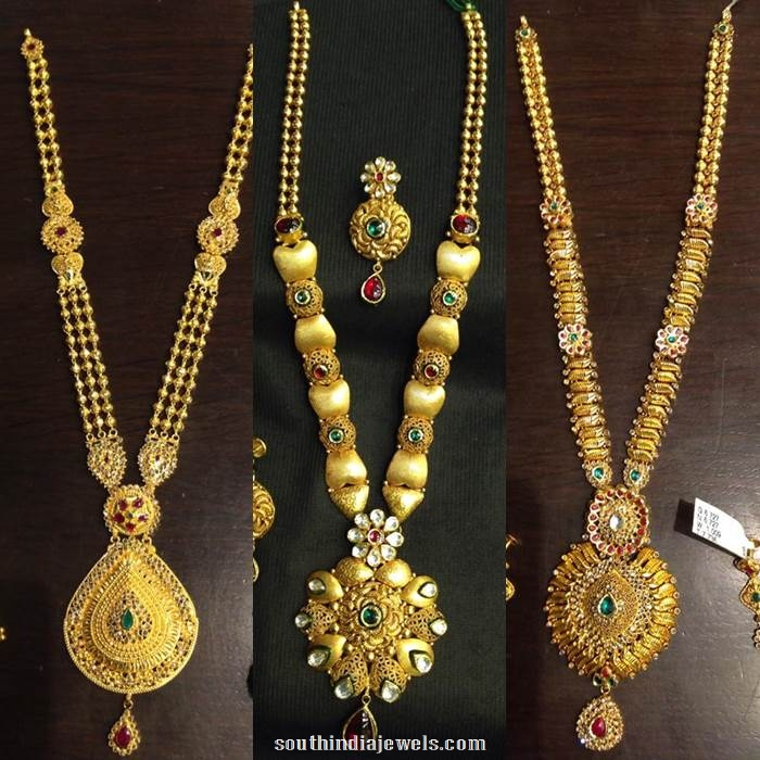 Latest Long Necklace Design Catalog South India Jewels