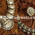Oxidized Silver Temple Jewellery Sets