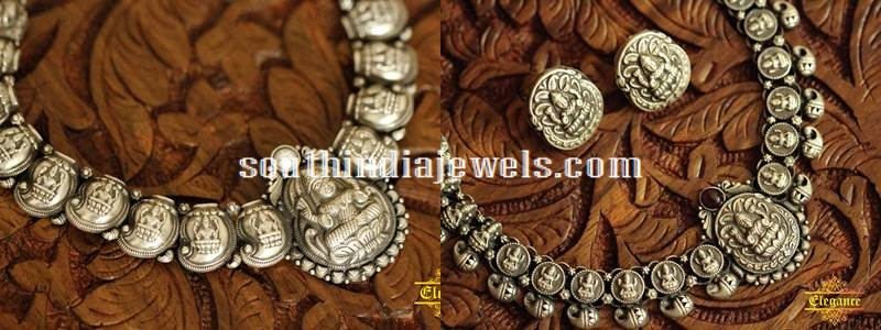Oxidiesed Silver Temple jewellery sets