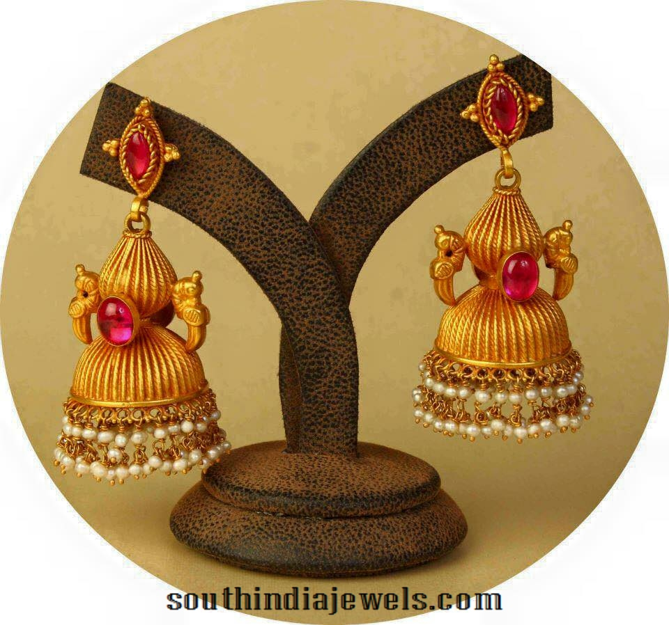 Ruby-antique-jhumka