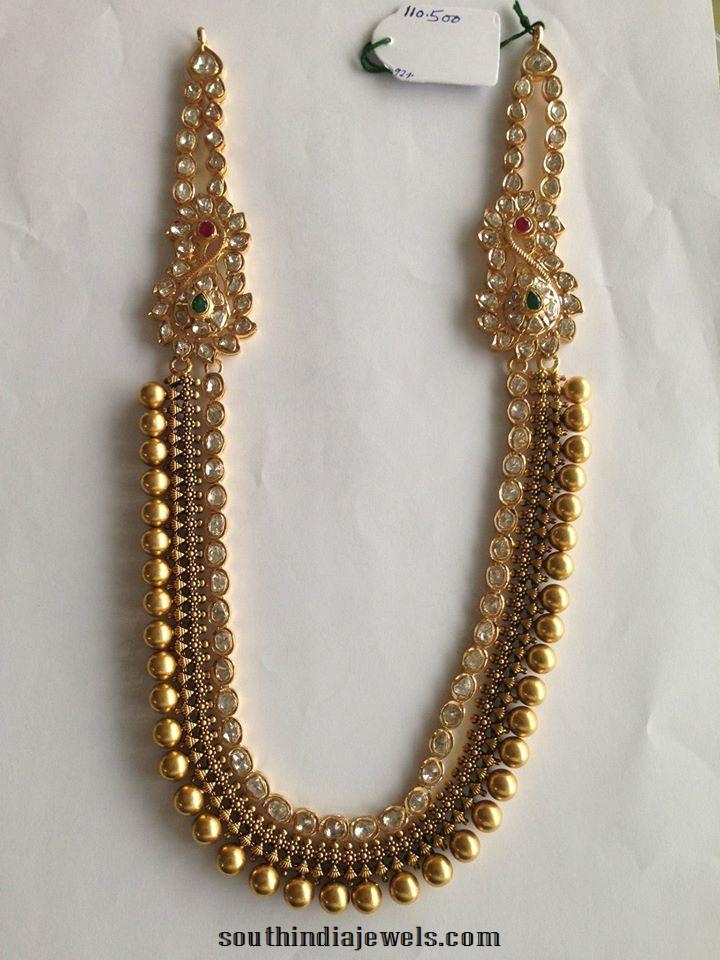 Uncut Diamond Pachi Long Necklace