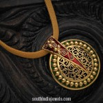Yellow Gold Pendant from Karpagam Jewellers