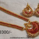 Imitation Long Necklace Set with Matching earrings