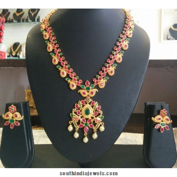 Latest Indian Jewellery Designs 2015: Latest Ruby Imitation Jewellery Necklace Design