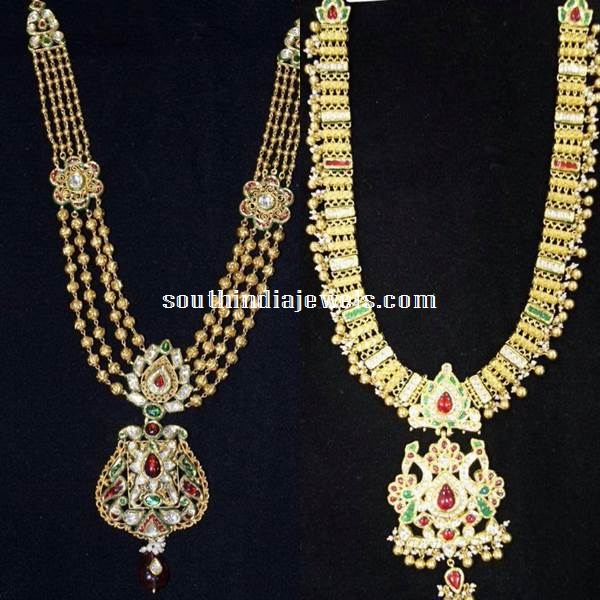 Latest Gold  Long Haram Designs