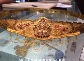 110gms and 40 onch adult ottiyanam with rubies and emeralds