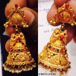 18 Grams Gold Antique Jhumka