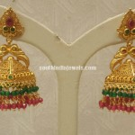 22K Gold Antique Pyramid Jhumkas