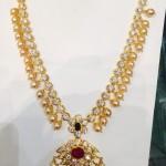 33 Grams CZ Stone Necklace Latest Design