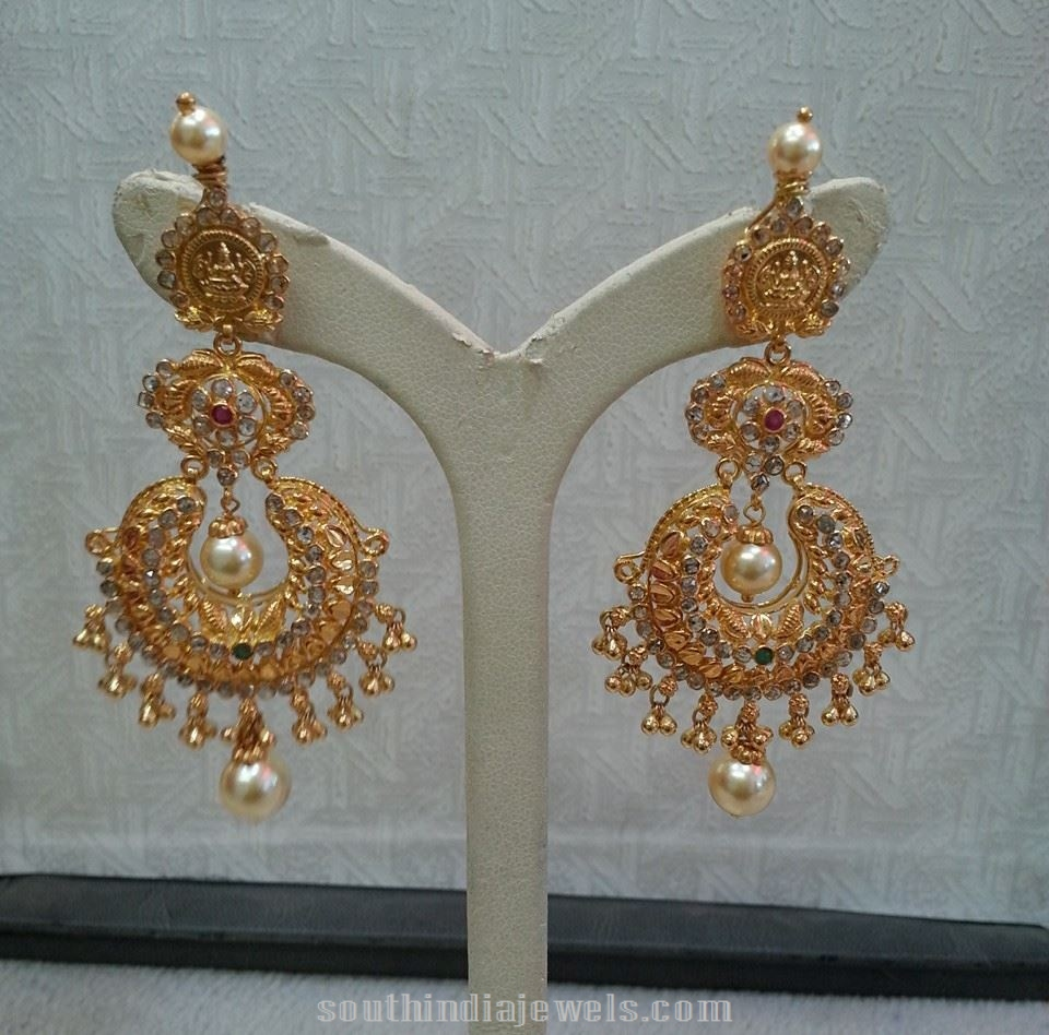 gold temple chandbalis south india jewels