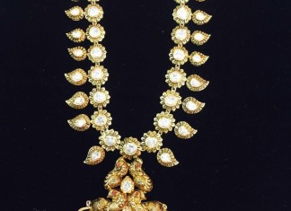 Antique gold necklace latest design 2015
