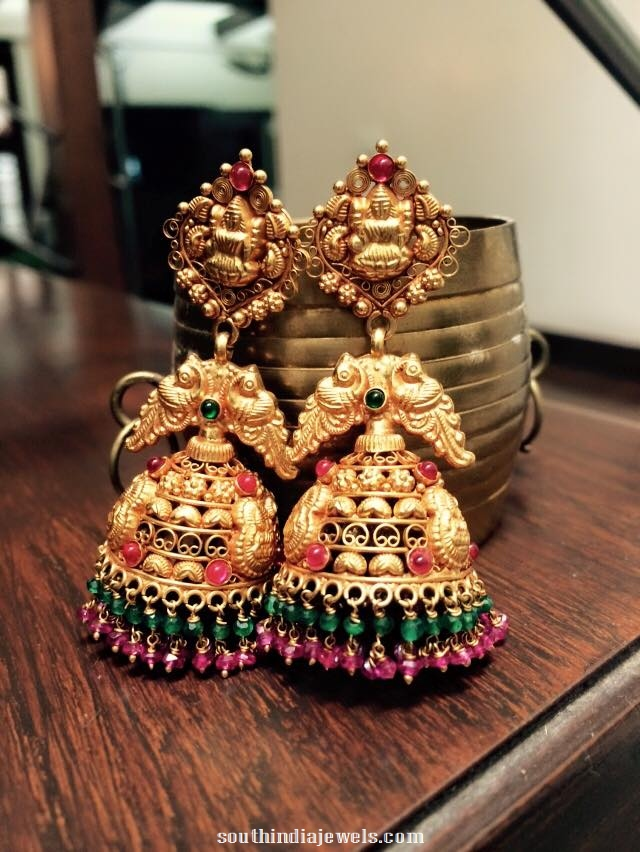 Antique-bridal-jhumka