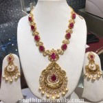 Antique Ruby and White Stone Necklace