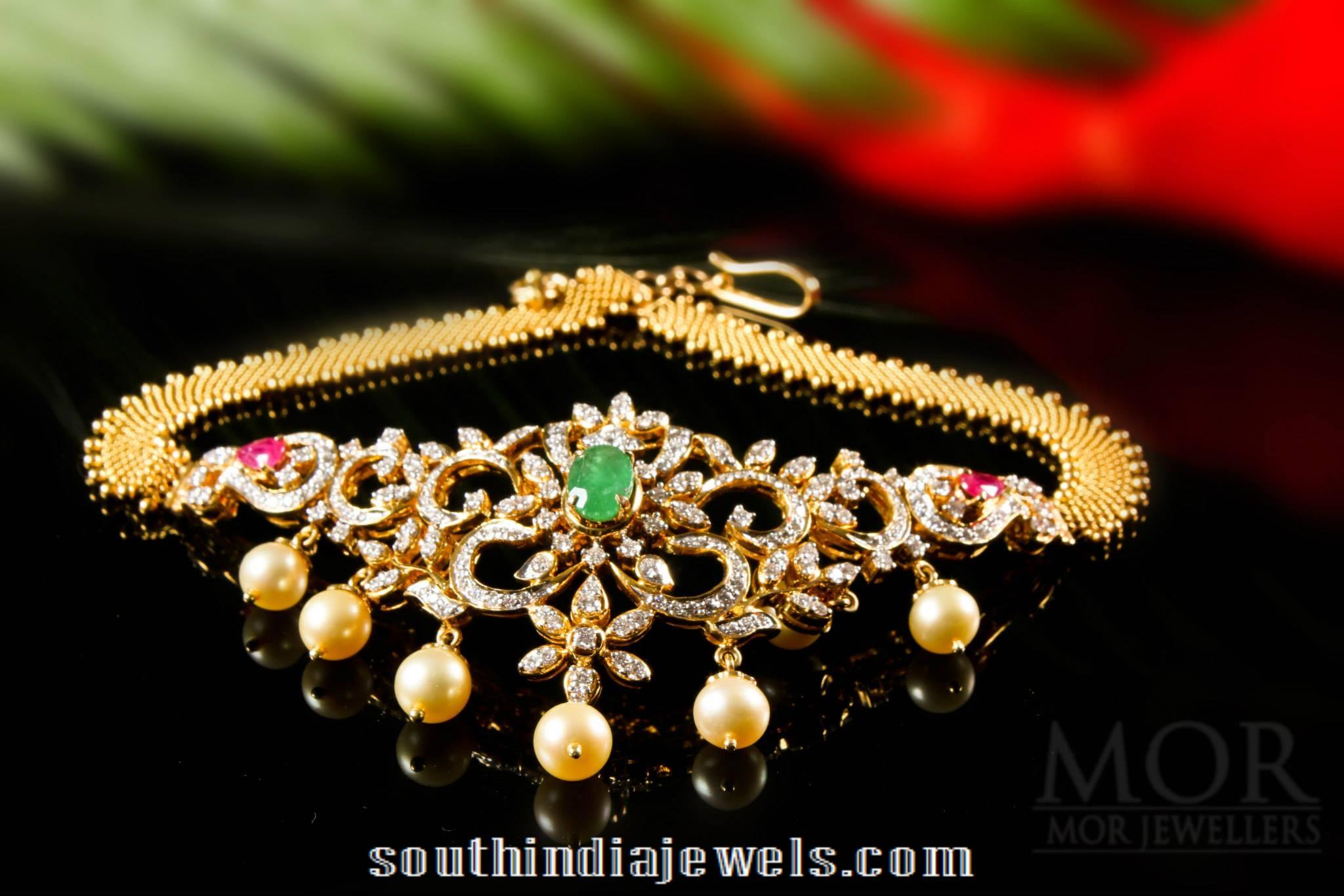 Diamond Necklace cum Dandapatti Multipurpose Jewellery