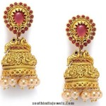 Matt Finish Antique Jhumkas